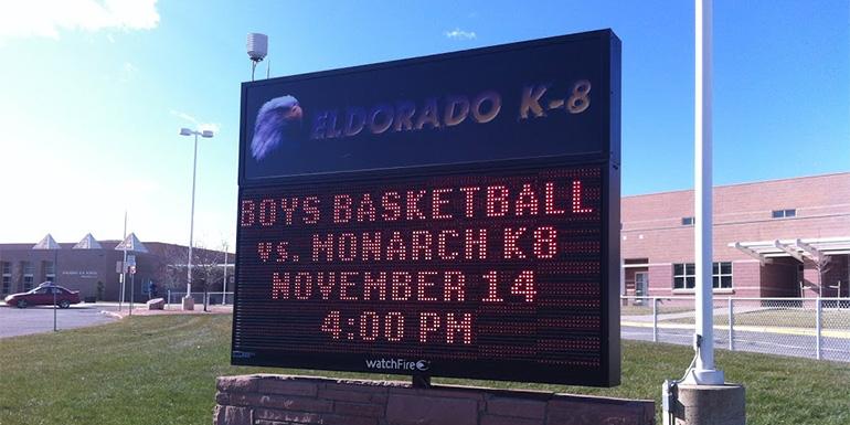high-school-led-sign