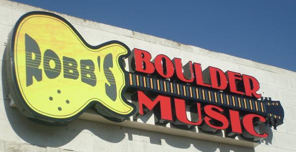 Robb's Boulder Music Guitar Channel Letter Sign