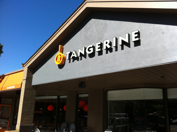 Tangerine, channel letters, sign letters, LED letters