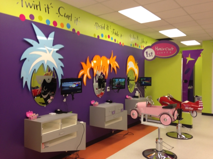shear madness haircust for kids signs