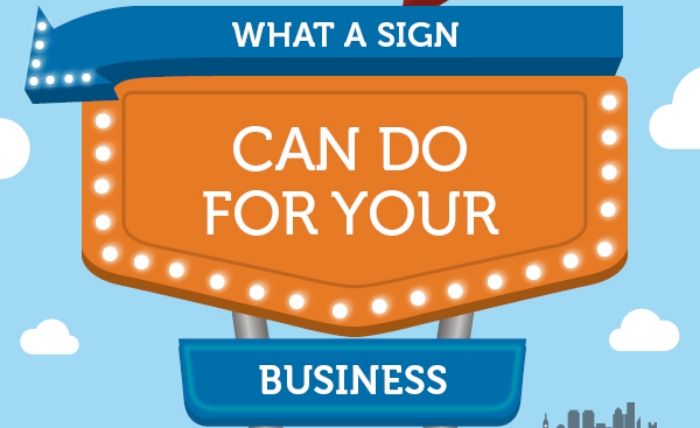 lighted business signs infographic