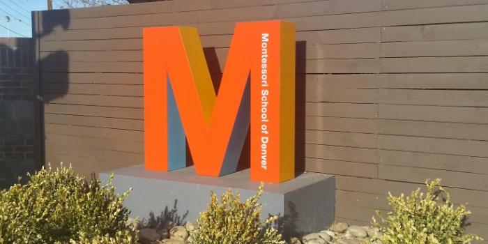 Denver Montessori School Monument Sign