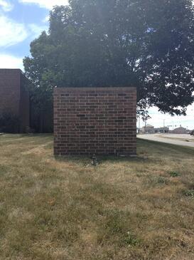 brick monument sign Kansas City