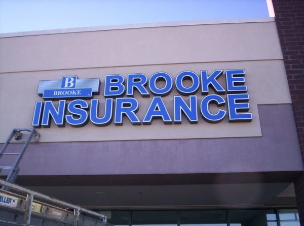 insurance and banking channel letter signs