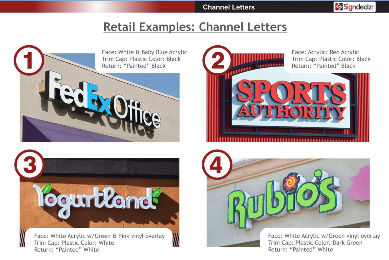 Channel Letter Examples
