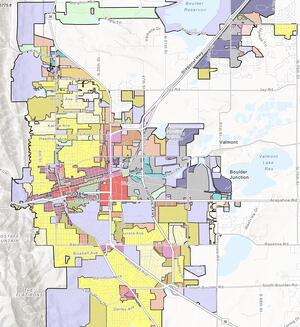 City of Boulder, CO Zoning Map