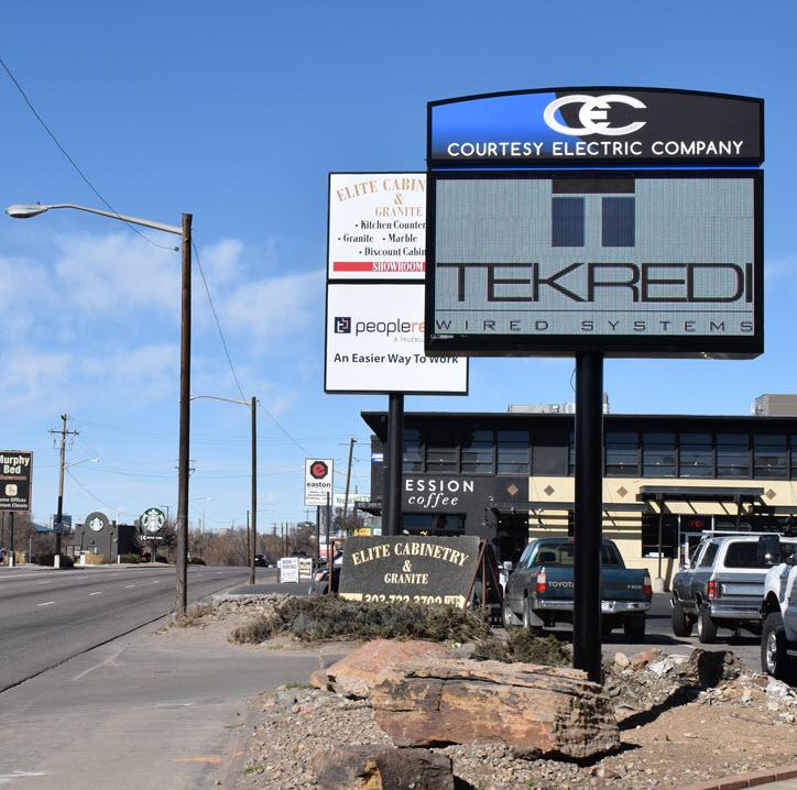 Courtesy Electric 12MM LED Display Denver Colorado