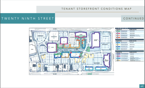29th Street Mall Signage Criteria Zoning Map