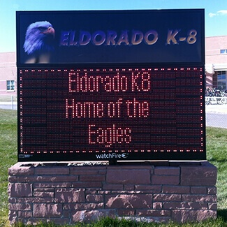 Monochrome School Signs Colorado