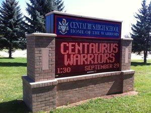 Custom Monochrome School Sign Boulder