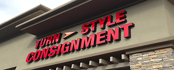 Front Lit Channel Letters Turn Style Consignment