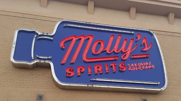Molly's Liquor Neon Custom Business Wall Sign