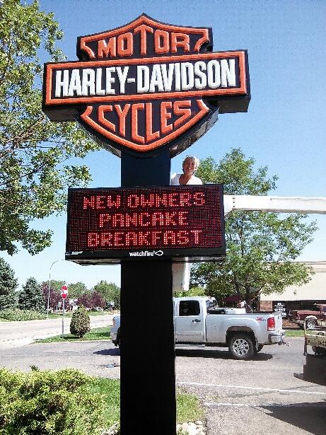 Harley Davidson Custom LED Pylon Signs