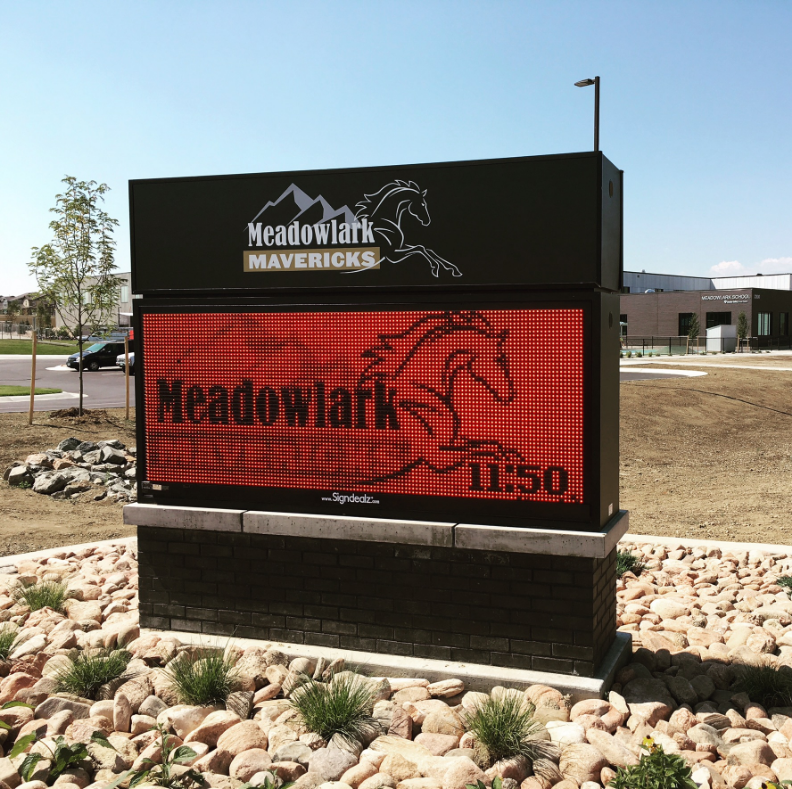 Meadowlark LED Sign for BVSD