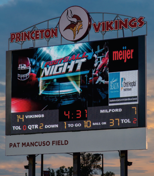 Football Outdoor Sports Video Scoreboards