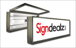 Hinged Frame Sign Cabinets