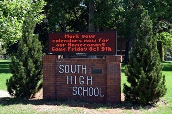 Denver Public Schools Red LED Sign