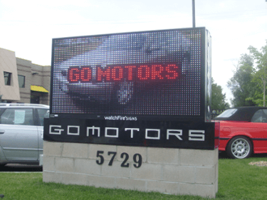 Car Dealership RGB Outdoor LED Sign