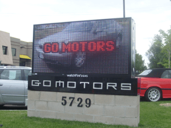Car Dealership RGB Outdoor LED Sign